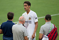 LOS ANGELES, CA - AUGUST 22: Ethan Zubak #29 of the Los Angeles Galaxy during a game between Los Angeles Galaxy and Los Angeles FC at Banc of California Stadium on August 22, 2020 in Los Angeles, California.