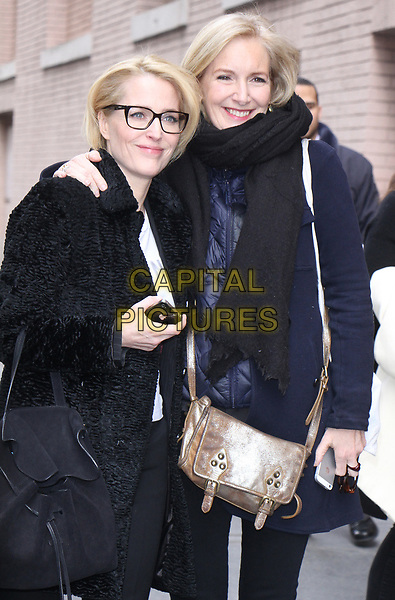 NEW YORK, NY - MARCH 13: Gillian Anderson and Jennifer Nadel at The View in New York City on March 13 , 2017. <br /> CAP/MPI/RW<br /> ©RW/MPI/Capital Pictures