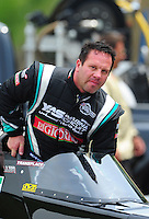 Jun. 18, 2011; Bristol, TN, USA: NHRA top fuel dragster driver Rod Fuller during qualifying for the Thunder Valley Nationals at Bristol Dragway. Mandatory Credit: Mark J. Rebilas-