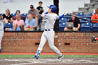 Burlington Royals William Hancock (7) swings at a pitch during game one of the Appalachian League Championship Series against the Johnson City Cardinals at TVA Credit Union Ballpark on September 2, 2019 in Johnson City, Tennessee. The Royals defeated the Cardinals 9-2 to take the series lead 1-0. (Tony Farlow/Four Seam Images)