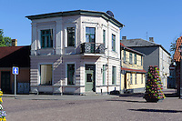 Am Marktplatz (Ratslaukums) von Ventspils, Lettland, Europa