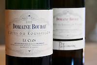 Cuvee Le Clos. Domaine Boudau, Rivesaltes. Roussillon. France. Europe. Bottle.