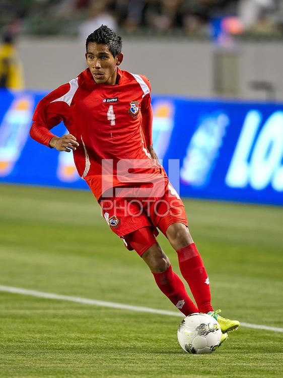 CARSON, CA - March 23, 2012: Carlos Rodriguez (4) of Panama during the Honduras vs Panama match at the Home Depot Center in Carson, California. Final score Honduras 3, Panama 1.