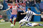 Atletico de Madrid's Gabi Fernandez (l) and Real Sociedad's Alberto de la Bella during La Liga match. March 1,2016. (ALTERPHOTOS/Acero)