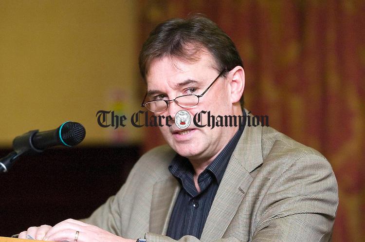 Thomas McCann,Dublin, speaking during Traveller Focus Week 2007 at the West County Hotel Ennis.Pic Arthur Ellis.