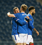 25.02.2021 Rangers v Royal Antwerp: Borna Barisic and Filip Helander