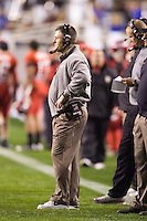 23 December 2006: Utah head coach Kyle Whittingham watches his team from the sidelines during the 2006 Bell Helicopters Armed Forces Bowl between The University of Tulsa and The University of Utah at Amon G. Carter Stadium in Fort Worth, TX.