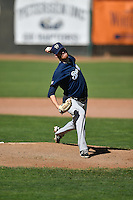 Cameron Roegner (37) of the Helena Brewers delivers a pitch to the plate against the Ogden Raptors in Pioneer League action at Lindquist Field on July 16, 2016 in Ogden, Utah. Ogden defeated Helena 5-4. (Stephen Smith/Four Seam Images)