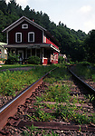 Train station West Cornwall Connecticut,  New England States, six-state region, Connecticut, Massachusetts, Rhode Island, thriving tourist industry, If you don't like the weather, wait ten minutes, Fine Art Photography by Ron Bennett, Fine Art, Fine Art photography, Art Photography, Copyright RonBennettPhotography.com ©
