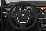 Car pictures of steering wheel view of a 2015 Peugeot 508 RXH 5 Door Wagon 2WD Steering Wheel