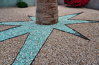Landscape design in front yard of home in Palm Springs, California