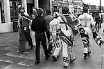 Scotland and English football fans Wembley, London England. 1981