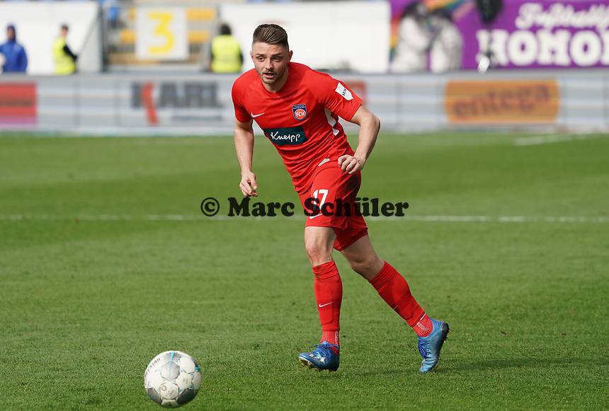 Maurice Multhaup (1. FC Heidenheim) - 29.02.2020: SV Darmstadt 98 vs. 1. FC Heidenheim, Stadion am Boellenfalltor, 24. Spieltag 2. Bundesliga<br /> <br /> DISCLAIMER: <br /> DFL regulations prohibit any use of photographs as image sequences and/or quasi-video.