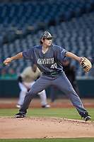 Charlotte 49ers starting pitcher Chase Gooding (40) in action against the Wake Forest Demon Deacons at BB&T BallPark on March 13, 2018 in Charlotte, North Carolina.  The 49ers defeated the Demon Deacons 13-1.  (Brian Westerholt/Four Seam Images)