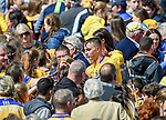 Peter Duggan of Clare is surrounded by fans following their Munster championship game win against Limerick in Ennis. Photograph by John Kelly.