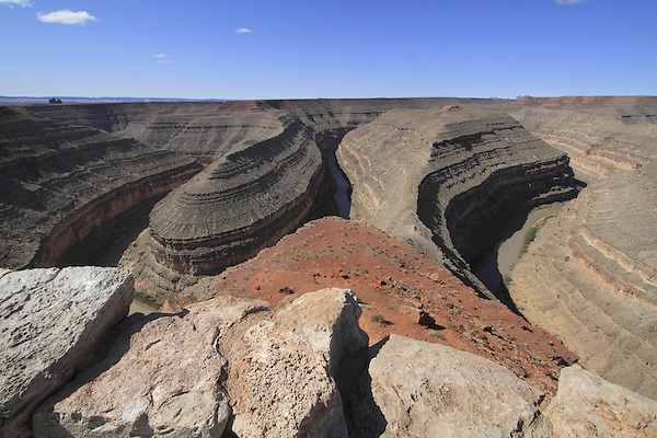Colorado River in Goosenecks State Park, Goosenecks Reserve, Mexican Hat, Utah, USA.