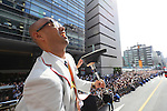 Atsushi Yamamoto (JPN), <br /> OCTOBER 7, 2016 :<br /> Japanese medalists of Rio 2016 Olympic and Paralympic Games wave to spectators during a parade from Ginza to Nihonbashi, Tokyo, Japan.<br /> (Photo by Yohei Osada/AFLO SPORT)