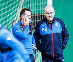 Performance coach Craig Flannigan and manager Mark Warburton