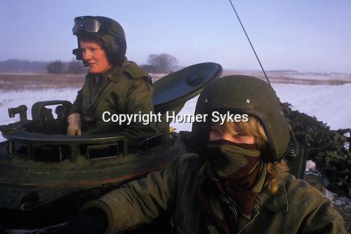 Danish Army female soldier in Tank unit. Denmark