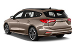 Car pictures of rear three quarter view of a 2019 Ford Focus-Clipper  ST-Line 5 Door Wagon angular rear