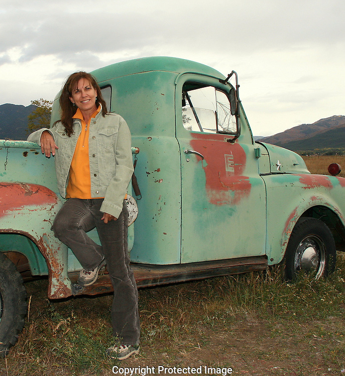Cheyenne with one of her favorite finds in Taos, New Mexico