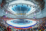 Skaters compete during the Speed Skating as part of the 2014 Sochi Olympic Winter Games at Adler Arena on February 10, 2014 in Sochi, Russia. Photo by Victor Fraile / Power Sport Images