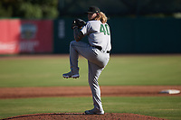 Augusta GreenJackets starting pitcher Joey Estes (40) in action against the Charleston RiverDogs at Joseph P. Riley, Jr. Park on June 27, 2021 in Charleston, South Carolina. (Brian Westerholt/Four Seam Images)