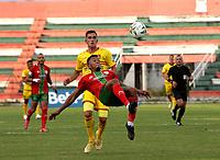 TULUA - COLOMBIA, 26-09-2021: Cortulua y Bogota F. C. durante partido de la fecha 10 por el Torneo BetPlay DIMAYOR II 2021 en el estadio Doce de Octubre en la ciudad de Tulua. / Cortulua and Bogota F. C. during a match of the 10th date for the BetPlay DIMAYOR II 2021 Tournament at the Doce de Octubre stadium in Tulua city. / Photo: VizzorImage / Samir Rojas / Cont.