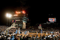111111-N-DR144-905.SAN DIEGO (Nov. 10, 2011) Michigan State University and the University of North Carolina compete in the Quicken Loans Carrier Classic aboard the Nimitz-class aircraft carrier USS Carl Vinson (CVN 70).  (U.S. Navy photo by Mass Communication Specialist 2nd Class James R. Evans/Released)