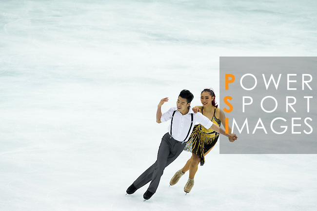 TAIPEI, TAIWAN - JANUARY 22:  Yiyi Zhang and Nan Wu of China compete in the Ice Dance Short Dance event during the Four Continents Figure Skating Championships on January 22, 2014 in Taipei, Taiwan.  Photo by Victor Fraile / Power Sport Images *** Local Caption *** Yiyi Zhang; Nan Wu