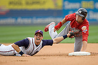 Manzella, Tommy 0219.jpg. Memphis Redbirds at Round Rock Express in Pacific Coast League Baseball. Dell Diamond on April 26th 2009 in Round Rock, Texas. Photo by Andrew Woolley.