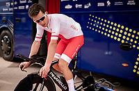 Michal Kwiatkowski (POL/INEOS Grenadiers) warming up<br /> <br /> Men Elite Individual Time Trial <br /> from Knokke-Heist to Bruges (43.3 km)<br /> <br /> UCI Road World Championships - Flanders Belgium 2021<br /> <br /> ©kramon