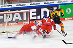 Eishockey: Deutschland – Tschechien am 01.05.2021 in der ARENA Nürnberger Versicherung in Nürnberg<br /> <br /> Deutschlands John Jason Peterka (Nr.94) trifft zum 3:1<br /> <br /> Foto © Duckwitz/osnapix/PIX-Sportfotos *** Foto ist honorarpflichtig! *** Auf Anfrage in hoeherer Qualitaet/Aufloesung. Belegexemplar erbeten. Veroeffentlichung ausschliesslich fuer journalistisch-publizistische Zwecke. For editorial use only.