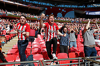 29th May 2021; Wembley Stadium, London, England; English Football League Championship Football, Playoff Final, Brentford FC versus Swansea City; Brentford players celebrate after full time after the teams 2-0 win