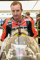 Colin Edwards who rode Barry Sheene's 1981 Yamaha OW48R YZR500 at Goodwood Festival of Speed 2016 at Goodwood, Chichester, England on 24 June 2016. Photo by David Horn / PRiME Media Images