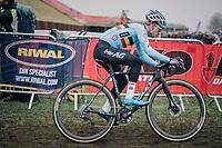 Eli Iserbyt (BEL/Marlux-Bingoal)<br /> <br /> Men's U23 race<br /> <br /> UCI 2019 Cyclocross World Championships<br /> Bogense / Denmark<br /> <br /> ©kramon