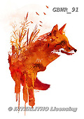 Simon, REALISTIC ANIMALS, REALISTISCHE TIERE, ANIMALES REALISTICOS, paintings+++++RobertF_PlattenseeFox,GBWR91,#a#, EVERYDAY