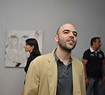 ROBERTO SAVIANO<br /> MOSTRA TULLIO PERICOLI     ARA PACIS ROMA 2010