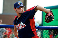 Cedar Rapids Kernels pitcher Cameron Bedrosian #36 during practice before a game against the Quad Cities River Bandits at Modern Woodmen Park on June 30, 2012 in Davenport, Illinois.  Quad Cities defeated Davenport 8-7.  (Mike Janes/Four Seam Images)