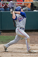 July 22, 2007: Outfielder Matt Sulentic of the Vancouver Canadians takes a swing during a Northwest League game against the Everett AquaSox at Everett Memorial Stadium in Everett, Washington.