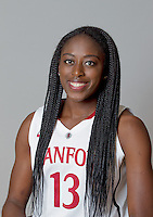Chiney Ogwumike with Stanford Women's basketball team. Photo taken on Wednesday, October 2, 2013