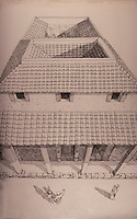 Italy: Rome--Drawing of a Roman House. D. MACAULEY, CITY.  Ref. only.