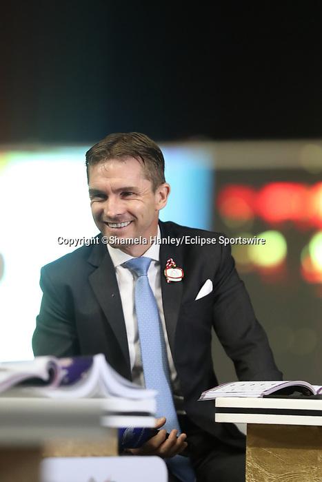 March 27, 2021: MISHRIFF (IRE) #7, ridden by jockey David Egan wins the Dubai Sheema Classic for trainer John and Thady Gosden on Dubai World Cup Day, Meydan Racecourse, Dubai, UAE. Shamela Hanley/Eclipse Sportswire/CSM