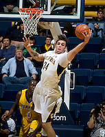 Robert Thurman of California rebounds the ball during the game against CSUB at Haas Pavilion in Berkeley, California on November 11th, 2012.  California defeated CSUB, 78-65.
