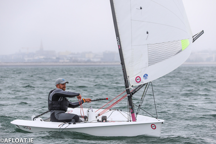 Strangford Lough's Hammy Baker leads the 14-boat RS Aero fleet Easterns after day one on Dublin Bay