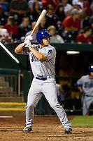 Ben Paulsen (11) of the Tulsa Drillers at bat during a game against the Springfield Cardinals on April 29, 2011 at Hammons Field in Springfield, Missouri.  Photo By David Welker/Four Seam Images.