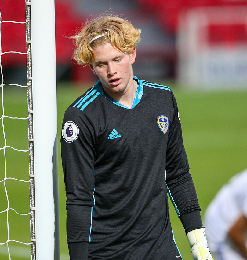 Leeds United U21's Cooper Skerry<br /> <br /> Photographer Alex Dodd/CameraSport<br /> <br /> EFL Trophy Northern Section Group G - Accrington Stanley v Leeds United U21 - Tuesday 8th September 2020 - Crown Ground - Accrington<br />  <br /> World Copyright © 2020 CameraSport. All rights reserved. 43 Linden Ave. Countesthorpe. Leicester. England. LE8 5PG - Tel: +44 (0) 116 277 4147 - admin@camerasport.com - www.camerasport.com