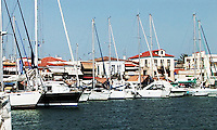 Pictured: Aegina port STOCK PICTURE<br /> Re: Four people, including a nine-year-old child, died and four were injured after a boat with about 20 people on board and a speedboat collided off the Greek holiday island of Aegina near Athens, Greece