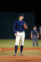 Mobile BayBears relief pitcher Alex Klonowski (7) on the mound during a game against the Pensacola Blue Wahoos on April 25, 2017 at Hank Aaron Stadium in Mobile, Alabama.  Mobile defeated Pensacola 3-0.  (Mike Janes/Four Seam Images)