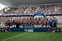 SÃO PAULO, SP 21.04.2019: CORINTHIANS-SÃO PAULO - Poster. Corinthians e São Paulo durante o jogo de volta, válido pela final do Campeonato Paulista na Arena Corinthians, zona leste da capital, na tarde deste domingo (21). (Foto: Ale Frata/Codigo19)